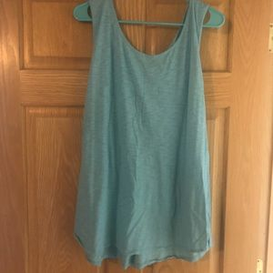 Tank top with crocheted back detail